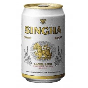 Thajské pivo Singha Beer 330ml v plechu - akční cena !!