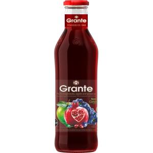 Granátová, jablečná  a hroznová šťáva Grante 100% 750ml
