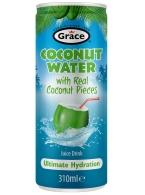 Kokosová voda s kousky dužiny Grace 310ml