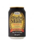 Sladový nealk. nápoj Mighty Malt GRACE - karton 24 ks - speciální cena