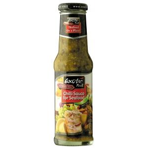 Chilli omáčka na mořské plody zelená Exotic Food 250 ml