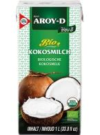 Kokosové mléko AROY-D 1000ml  CZ-BIO-003