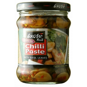 Chilli pasta s bazalkovými listy Exotic Food 200g