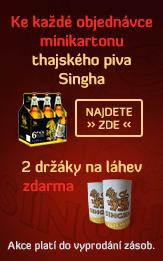 Ke každé objednávce minikartonu thajského piva Singhavám dáme zdarma 2 držáky na láhev