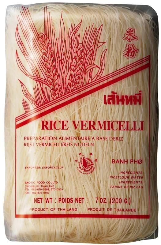 Rýžové nudle vlasové 200g Exotic Food Thajsko